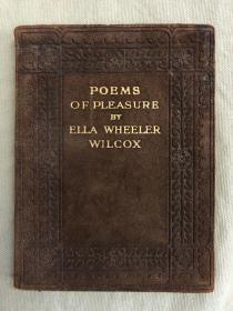 珍稀孤本:poems of Pleasure《欢乐颂》每页都带Sangorski 精美装饰