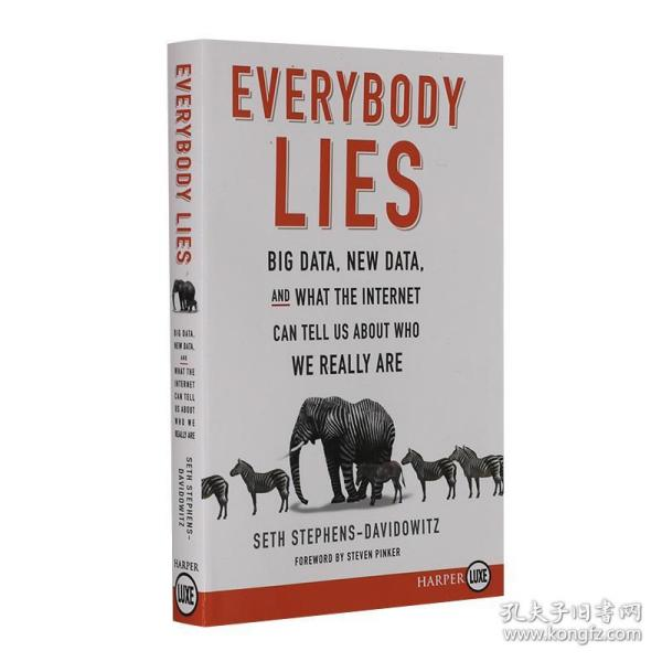 人人都在说谎 英文原版 Everybody Lies 赤裸裸的数据真相 Seth Stephens Davidowitz 赛思斯蒂芬斯达维多维茨 进口书 平装