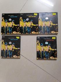 刘德华,演唱会cd共5张。上面3张一套,碟片约95新,下面2张全新的(1丶3)