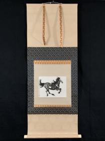 朵云轩 上海书画社 上世纪六十年代 木版水印 徐悲鸿《起步》 徐悲鸿画马 立轴 木刻 木板