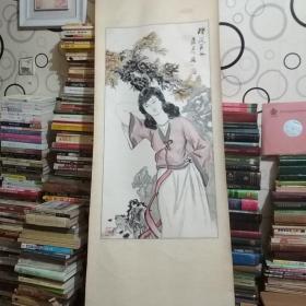 朱彦国画(樱花美女)