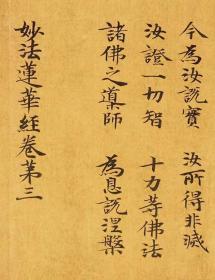 敦煌遗书 大英博物馆 S1509莫高窟 妙法莲华经。纸本大小28*145厘米。宣纸艺术微喷复制。