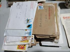 早期实寄封,200枚(都带邮票和信!) 详见图片!