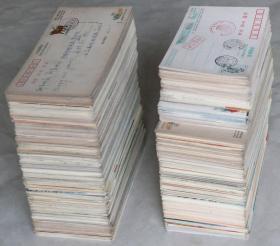 旧明信片:《80年代——2000年代中国邮政有奖明信片、各种明信片》大约1200张左右(有实寄的、空白未使用过的).。