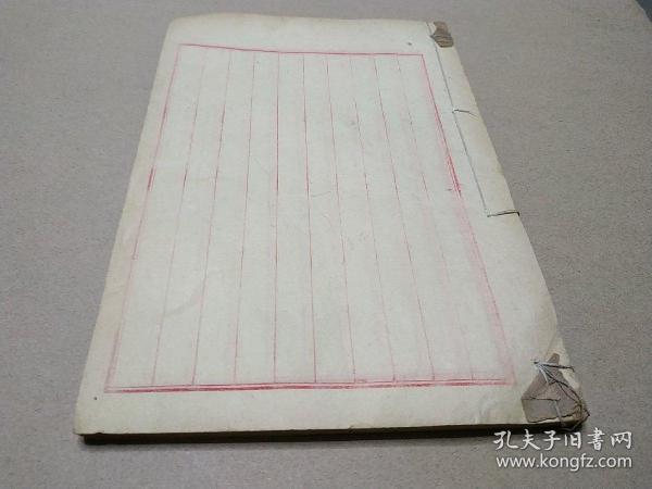 故纸,纸文化,花笺纸文化:清代大开本10列空白册笺,约50个筒子页,纸质上佳,是信札手札用纸的好纸张。