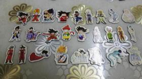 七龙珠 动漫人物  磁性贴冰箱贴  37个合售  (少见!)