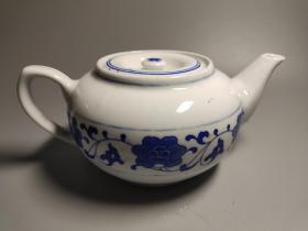 80年代,景德镇厂货,青花芙蓉柿子壶,标价为单只,2只起非偏远地区包邮!