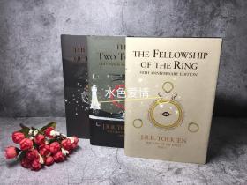 老版指环王魔戒五十周年字样 烫金版 手绘版封面纪念版三分册 线装本 Lord of the Ring 50th