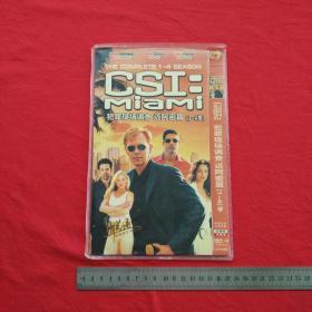 《犯罪现场调查 迈阿密篇1-4季》4张DVD光碟光盘唱片