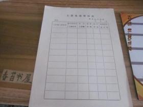 工资变动登记表【空白表】