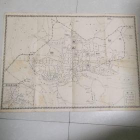 五十年代广州近郊交通图
