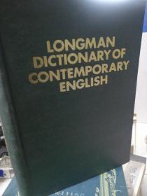 LONGMAN DICTIONARY OF CONTEMPORARY ENGLISH
