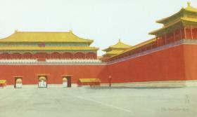 中国集邮总公司发行的故宫博物院明信片,全套4枚,图案分别为午门、太和殿、角楼、乾清门。