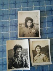 中国人民志愿军24军70师女兵照片3张