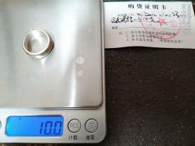 男,纯银999戒指,素圈闭口无标无印,全新10克,直径18mm(店主定制)