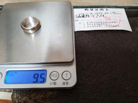 男,纯银999戒指,素圈闭口无标无印,全新9.5克,直径18.5mm(店主定制)