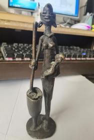 西洋铜器,雕塑,人像,很特别,实心的
