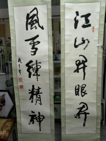 江苏书法家武中奇,书法对联