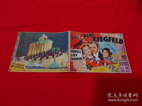 民国 1936年 光陆电影院 电影宣传单 宣传广告 歌舞大王齐格菲 THE GREAT ZIEGFELD