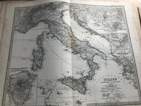 1877年 意大利地图