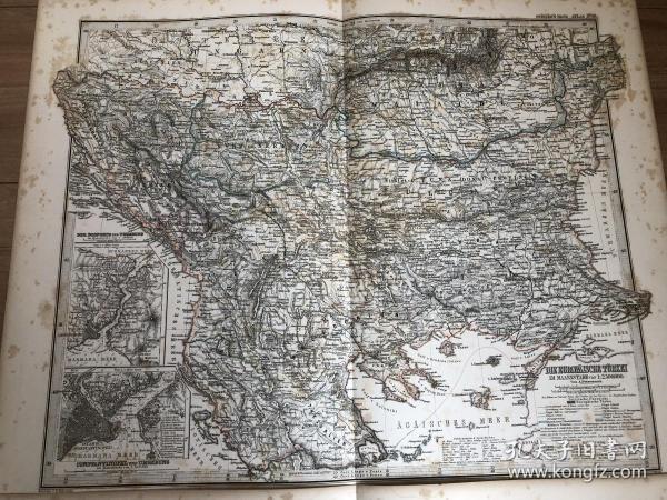 1877年 土耳其欧洲部分地图