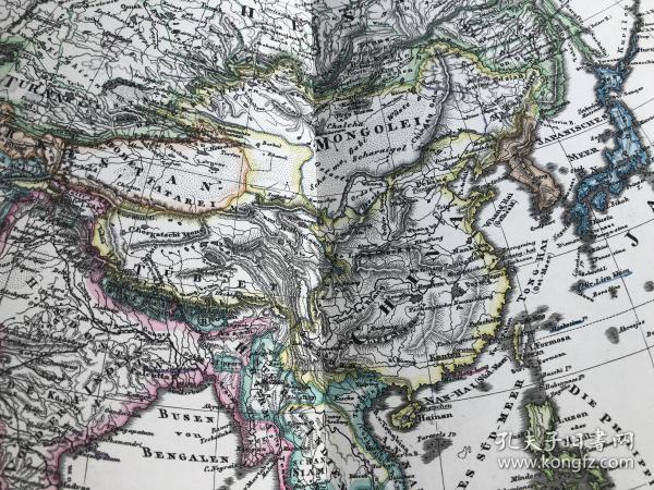1877年 亚洲地图