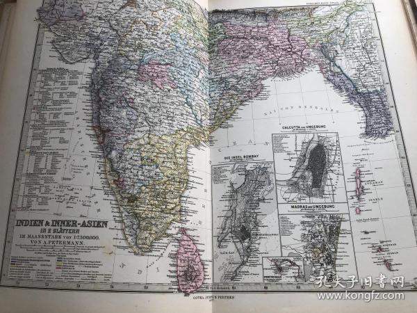 1877年印度地图