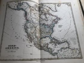 1877年北美洲地图