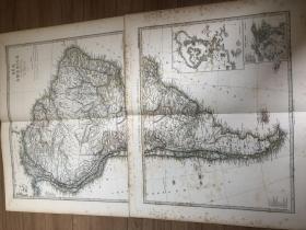 1877年南美洲地图2张