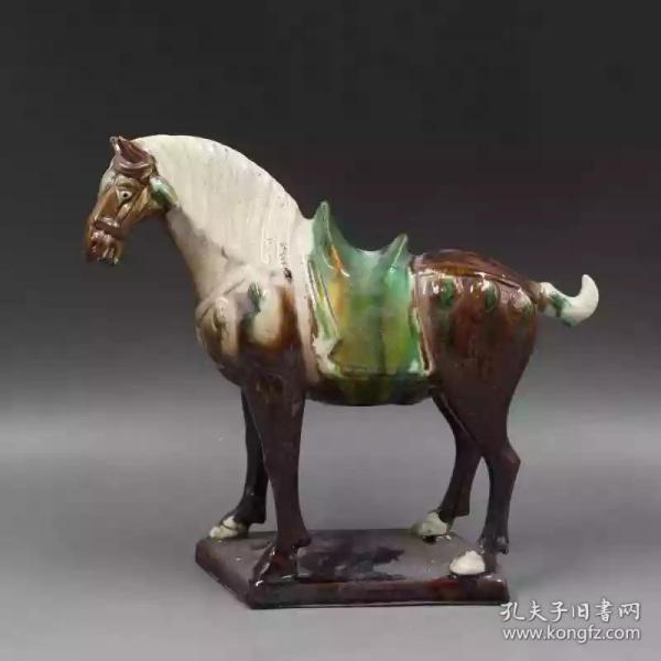 唐三彩紫釉战马