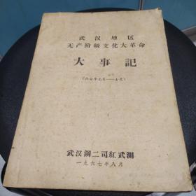 武汉地区无产阶级文化大革命大事记