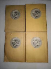 华东上海版大32开本繁体竖排《毛泽东选集》4册全带毛像绿色护封,第一卷1951年10月北京第1版1952年1月华东重印第2版、第二卷1952年3月北京第1版1952年3月上海第1次印刷、第三卷1953年2月北京第1版1953年2月上海第1次印刷、第四卷1960年9月北京第1版1960年9月上海第1次印刷(书籍存在字迹斑点自然旧封面有小开裂口等瑕疵)
