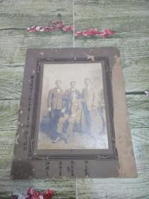 民国1927年留学生合影一张,下面写有名字。保真包老。