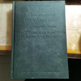 原始思维 原始社会结构与功能 西学经典 英文版