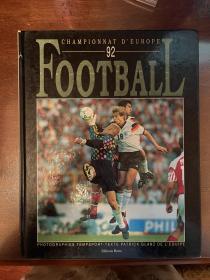 1992欧洲杯足球画册 法国队报原版世界杯欧洲杯法文画册 euro赛后特刊 包邮