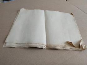 故纸,纸文化,花笺纸文化:民国16开空白图画纸23张,江西老纸,纸质上佳,是画老画信札手札用纸的好纸张。