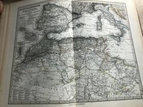 1877年 地中海北非地图
