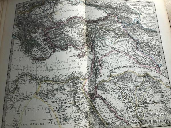 1877年 奥斯曼土耳其地图