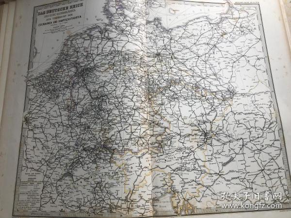 1877年 德意志帝国交通图