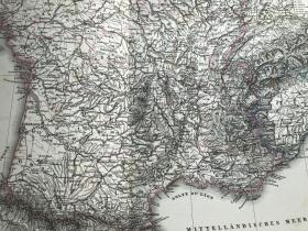 1877年法国地图