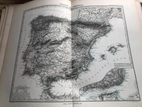 1877年西班牙葡萄牙地图