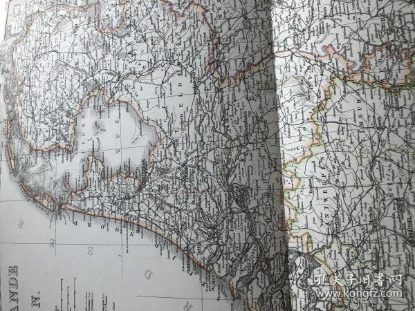 1877年荷兰比利时地图