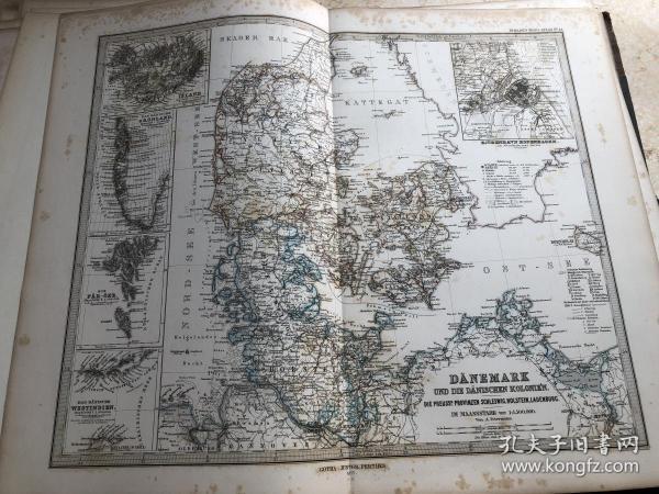 1877年 丹麦冰岛地图