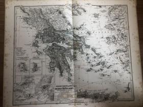 1877年希腊地图