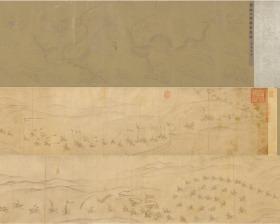 【复印件】仿真长卷:便桥会盟图卷,陈及之作,横:402.1cm,纵:12.5cm