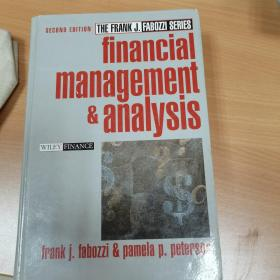 Financial Management and Analysis