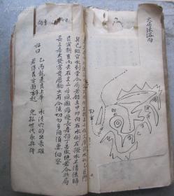 光绪二年手抄《地理秘诀杂抄流传》厚一册