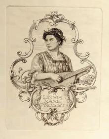 奥地利 考斯曼Alfred Cossmann藏书票版画原作2精品收藏1870-1951