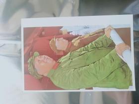 毛主席和林彪副主席在天安门城楼上 画片