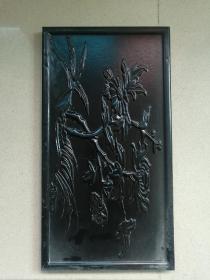 超大型天然木雕摆件图案浮雕手工雕刻整个木头做成长47厘米厚2厘米